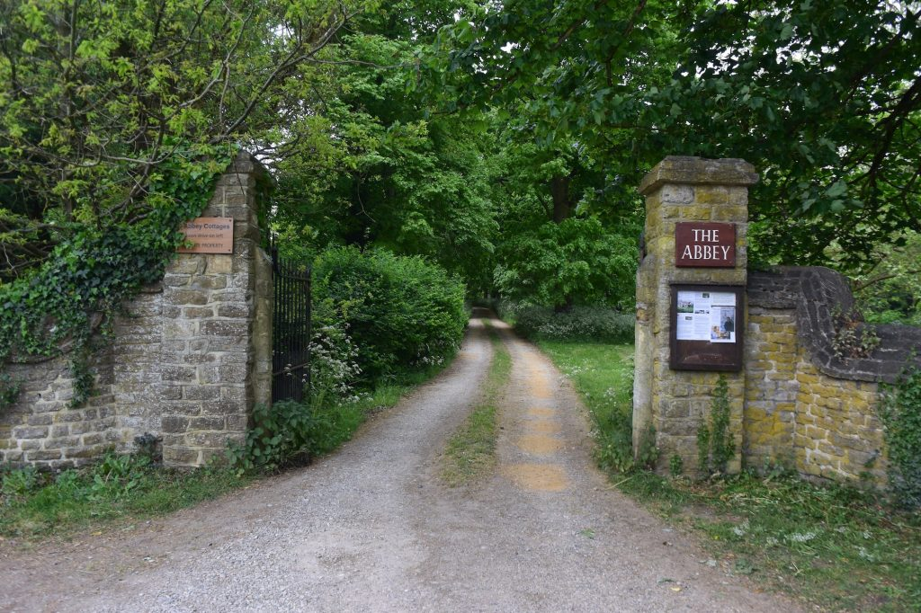 The entrance to the Abbey at Sutton Courtenay, Oxfordshire