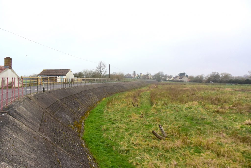 The Balt Moor Wall, between Athelney and East Lyng on the Somerset Levels.