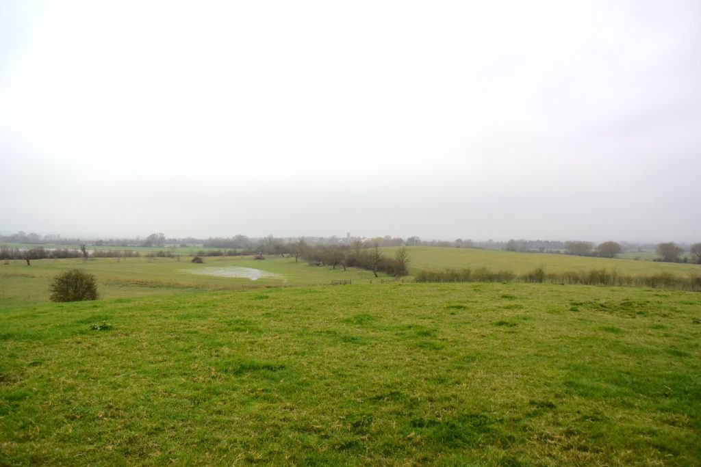 Even with the Somerset Levels drained it doesn't take much for the water around Athelney hill to appear again.