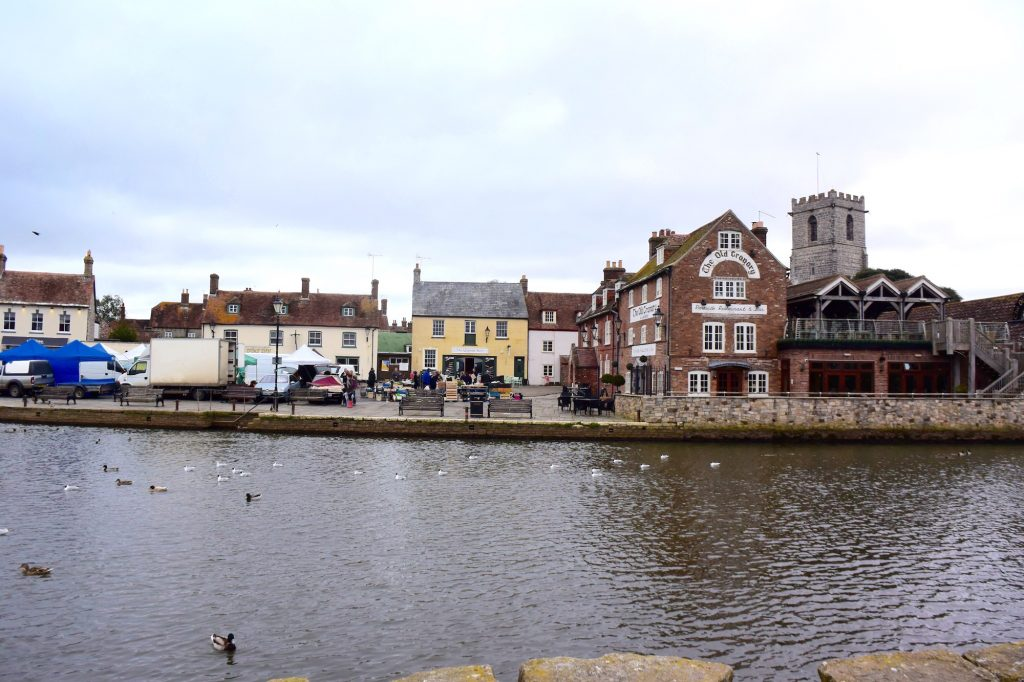 Wareham Quay, the Purbecks, Dorset, viewed from the south bank of the River Frome. The Vikings may have disembarked here.