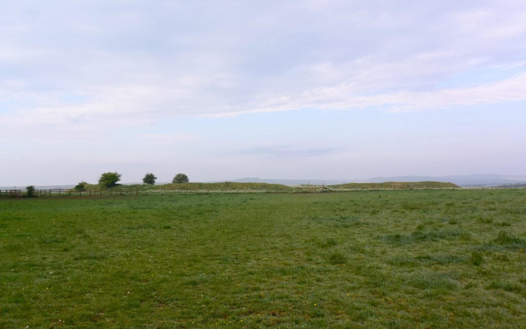 """Alfred's Castle"" Bronze Age enclosure, near Ashdown House, Oxfordshire."