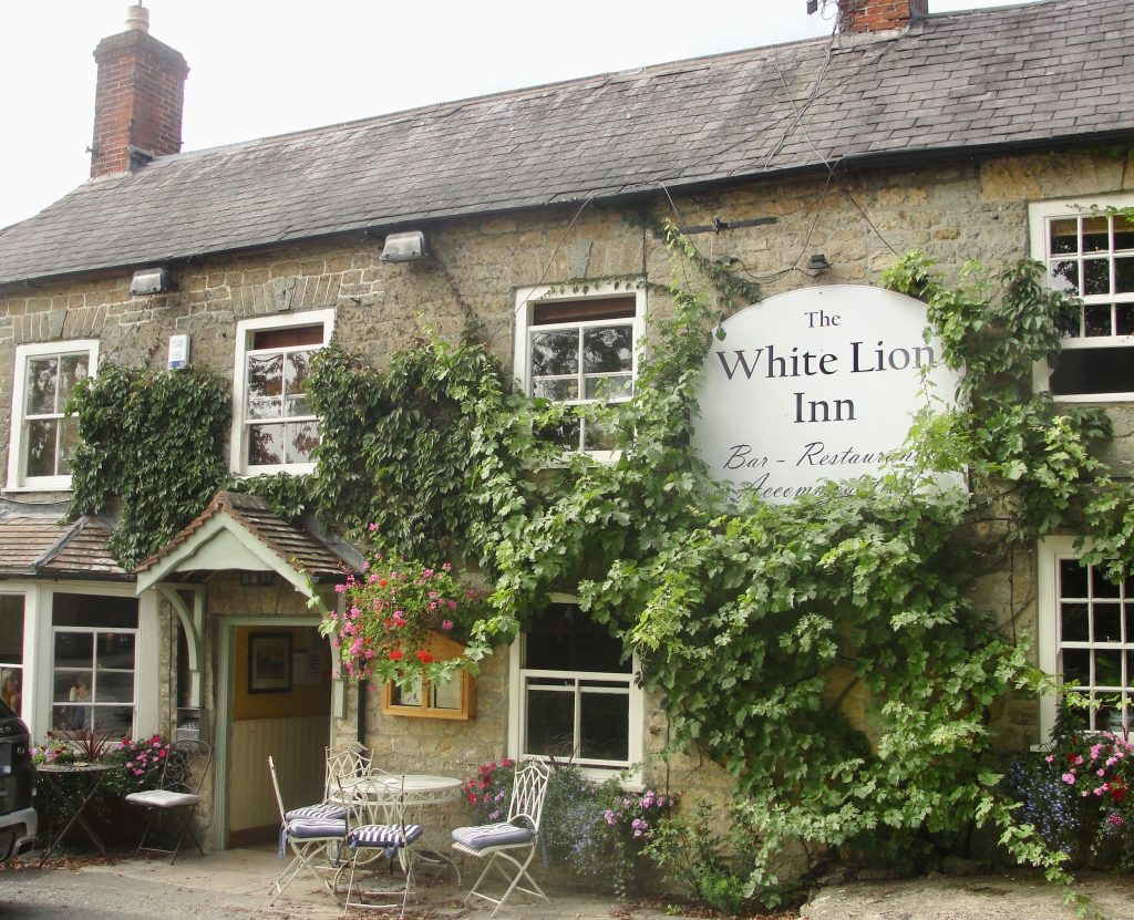 The White Lion Inn at Bourton, north Dorset. A lovely place to take a break from explorations, and the food and beer are superb.