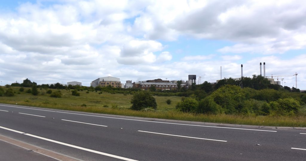 The former Kemsley paper mill, near Milton Regis, Sittingbourne, north Kent. On the site of the Viking camp?