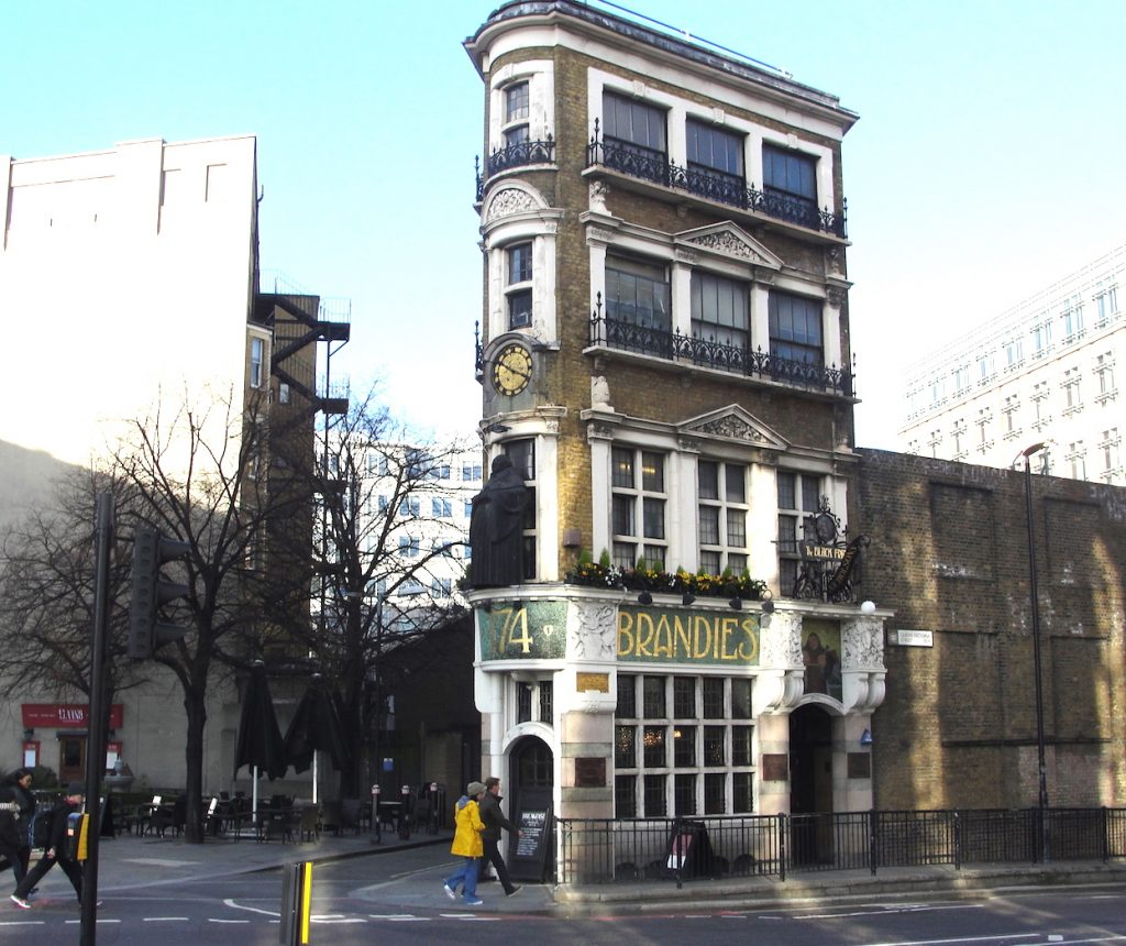 The Black Friar pub, close to Blackfriars train station and the River Thames.