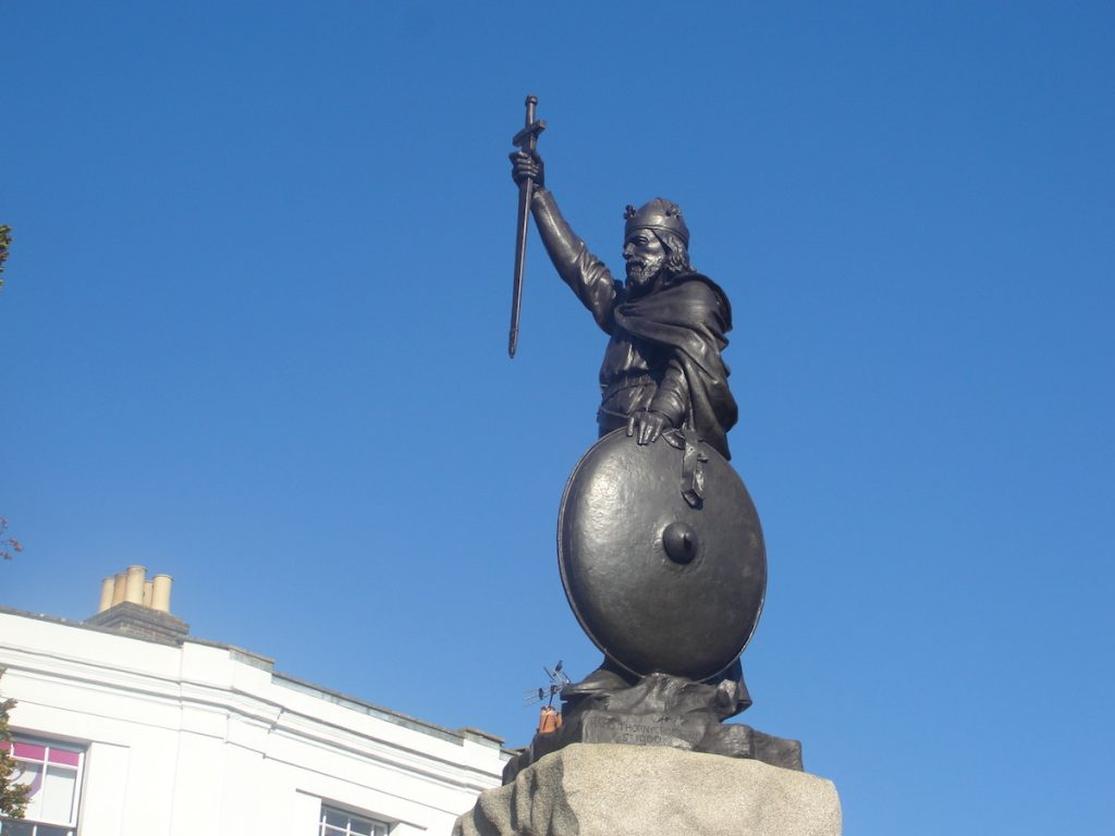 Thorneycroft's statue of King Alfred the Great in Winchester, Hampshire