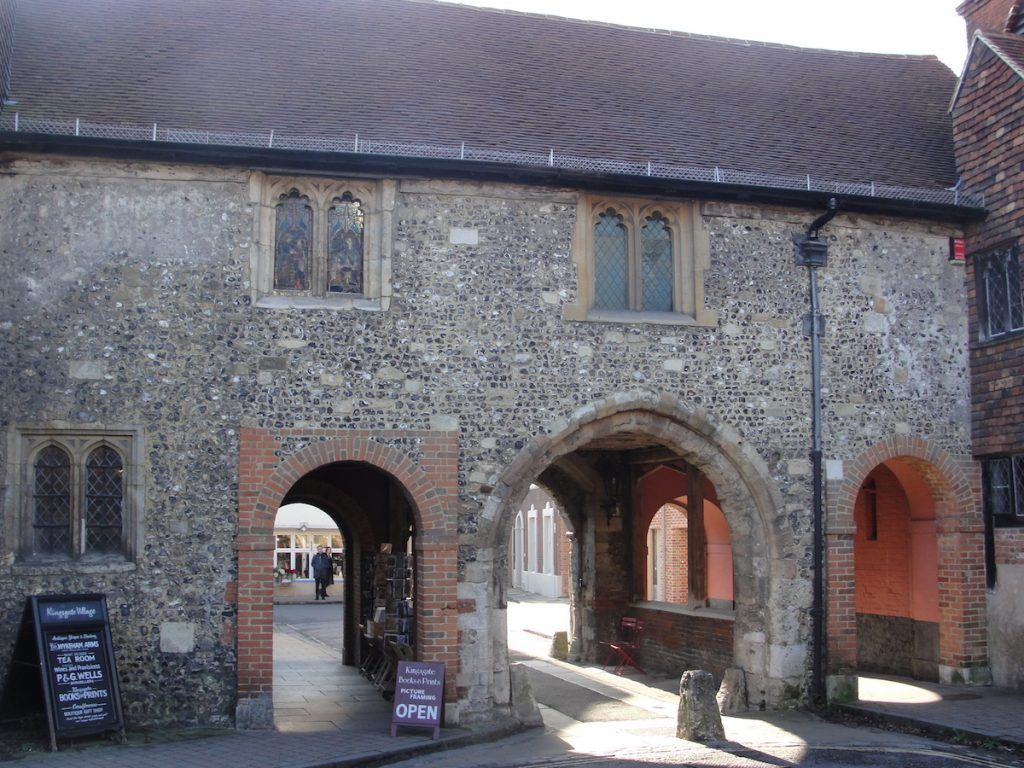 King's Gate from the north. It is possible that there was a gate here in the walls of Winchester in King Alfred's time, giving access to a royal residence.