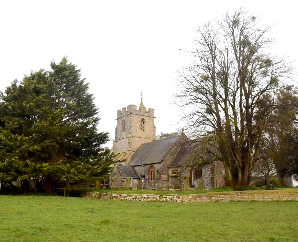 St Andrew's church, Aller, Somerset Levels. Where King Alfred baptised Guthrum, the Viking leader, after he was defeated at the Battle of Ethandun