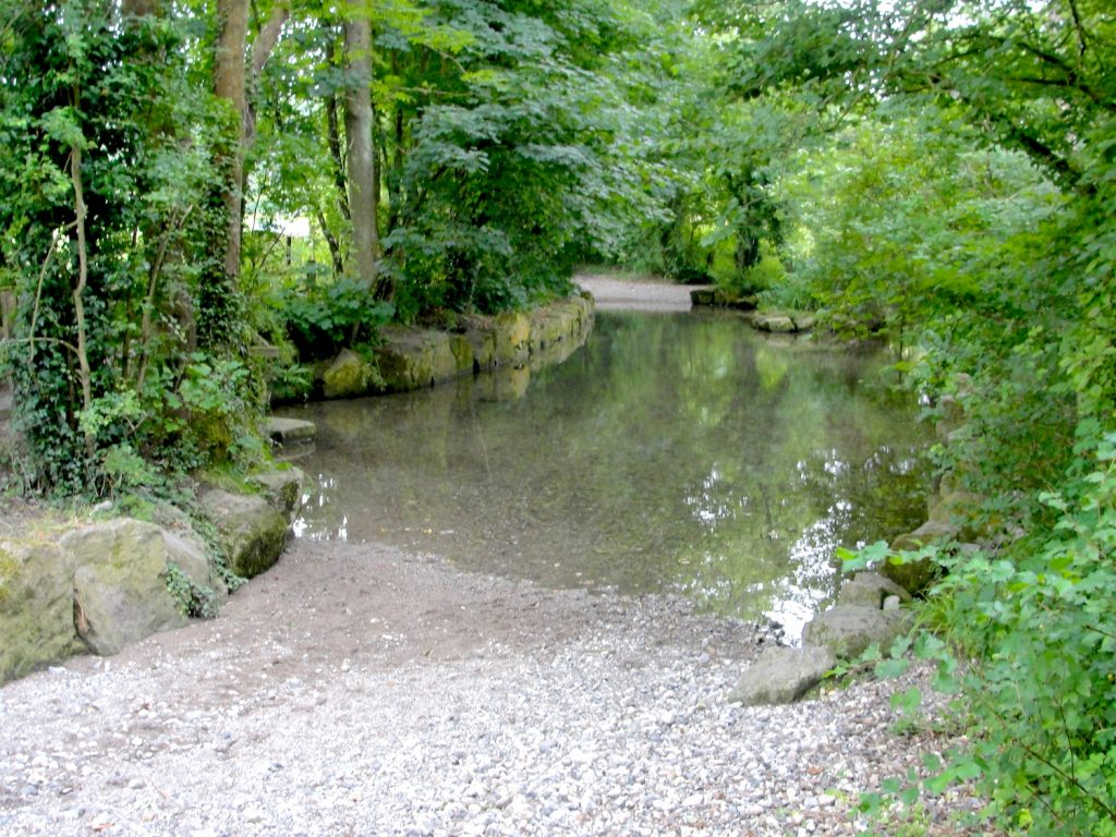 The ford between Kingston Deverill and Monkton Deverill, Wiltshire. Two Roman roads crossed at or close to here