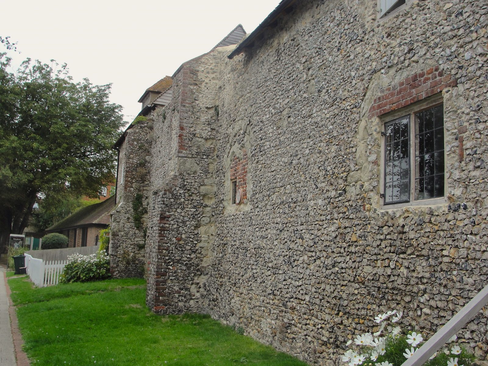 A wall of the Archbishop's Palace in Charing, Kent