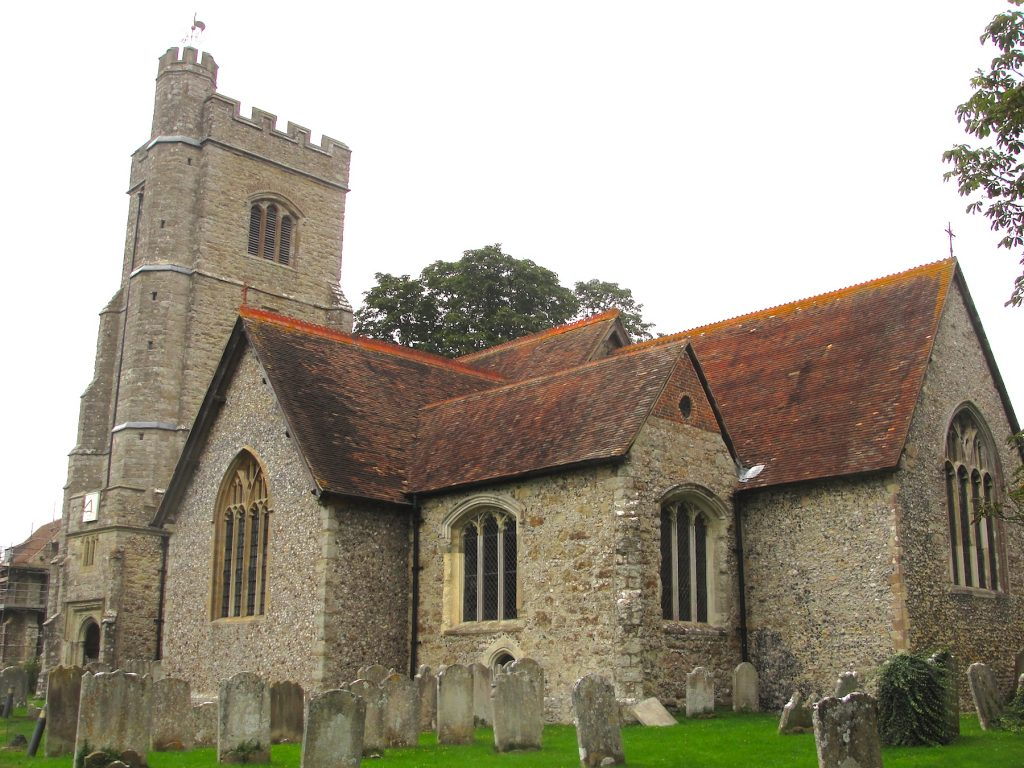 The 13th century church of St Peter and St Paul at Charing, Kent.
