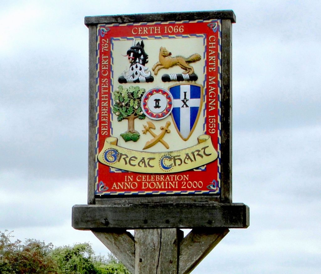 The Millennium Sign at Great Chart, near Ashford, Kent