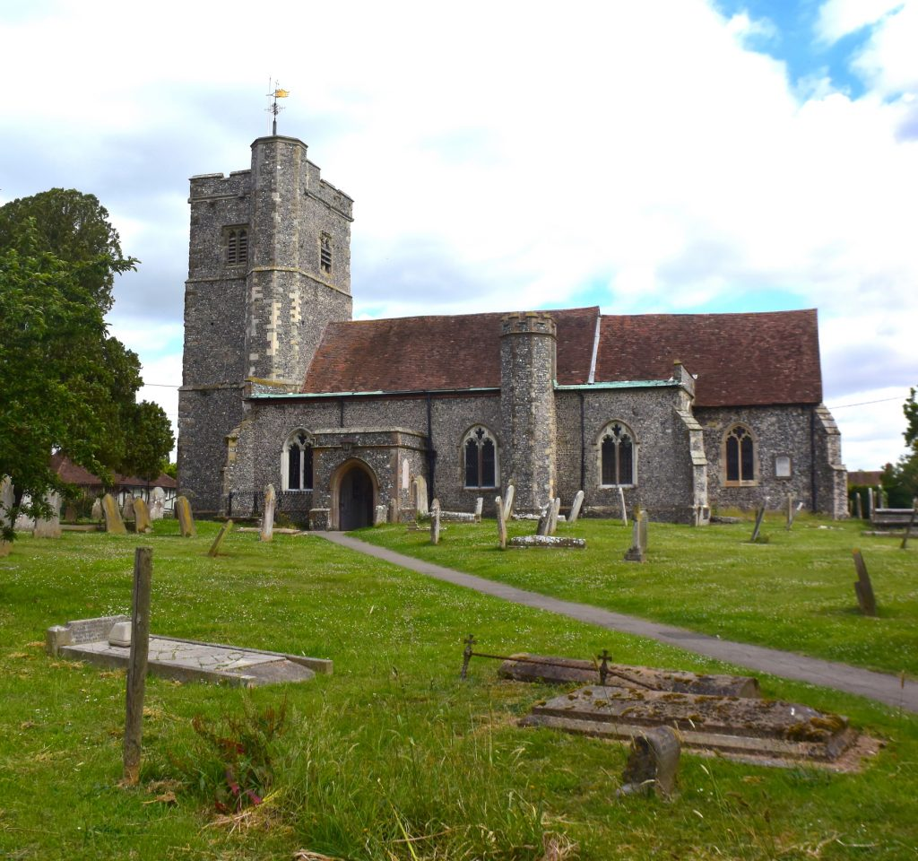 Church of St John the Baptist, Bredgar, Swale, Kent, with the earliest elements dating to the 12th century.