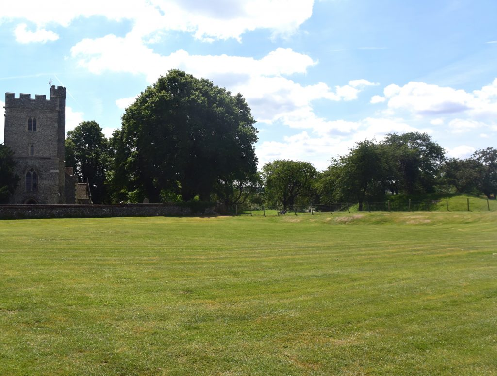 St Mary Magdalene Church, Stockbury, Kent and the Norman earthworks