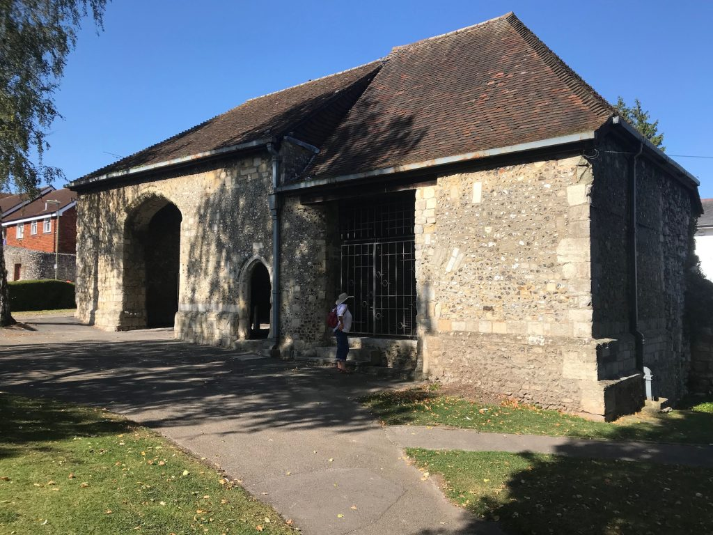 Hyde Abbey fifteenth century gateway, Winchester.