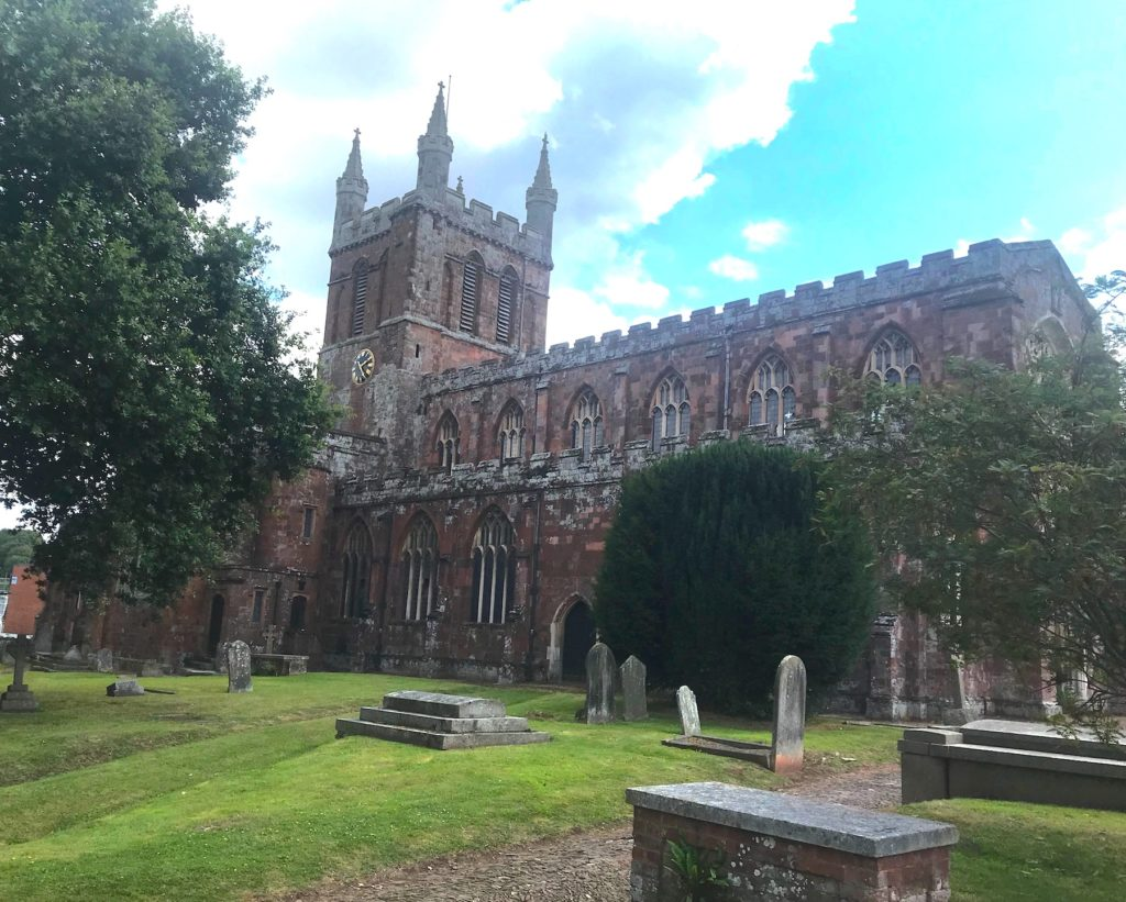 The church of the Holy Cross, Crediton, Devon.